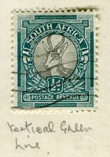 SOUTH AFRICA;  1933-40s early Springbok issue used 1/2d. + Minor PLATE FLAW