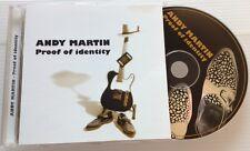 ANDY MARTIN / PROOF OF IDENTITY - CD (Italy 1999) RARE ITALIAN BLUES !!!