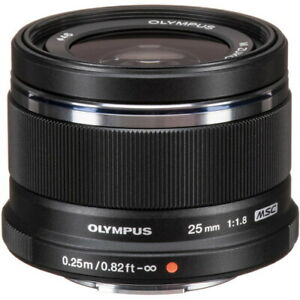 Olympus M.ZUIKO Digital 25mm F1.8 Lente Negro Para Micro Cuatro Tercios 87092
