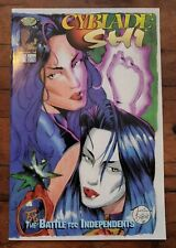 CYBLADE/SHI: THE BATTLE FOR INDEPENDENTS #1 high grade VARIANT! 1ST WITCHBLADE