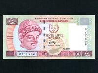 Cyprus:P-61a,5 Pounds,2001 * Pre-Euro * UNC *