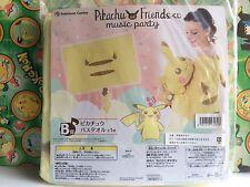 Pokemon Center Pikachu Friends Bath Towel Music Party Prize Stuffed plush Doll
