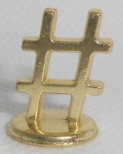 Monopoly Gold Hashtag Token Metal Mover Piece