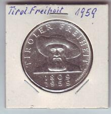 Österreich 50 Schilling 1959 Silber 900 18g Tiroler Freiheit Andreas Hofer v-st