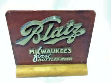Blatz beer sign vintage wood metal register topper display 1940's old bottled 1