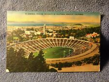 Vintage Postcard Memorial Stadium University Of California, Berkeley, California