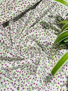 """🌷 Pink/Green Colour Rose & Hubble 100% Cotton Poplin Fabric,42"""" wide🌷"""