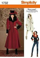 Simplicity Sewing Pattern 1732 Misses Costume Coat Size 14-22 R5