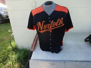 FINE  MiLB Norfolk Tides  Button Up Baseball Jersey L  OT