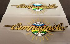 Campagnolo Decals-1 pair-Gold Metallic-Multi-colored globe
