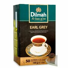 Dilmah Earl Grey Ceylon Black Tea - 50 Pure Ceylon Tea Bags