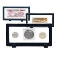 Moneda Medalla Joyería Pantalla Presentación Caja Flotante 3D Funda Soporte Para