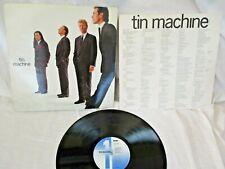 TIN MACHINE (DAVID BOWIE),1989, ORIGINAL CARD LYRIC INNER SLEEVE, VG+ CONDITION