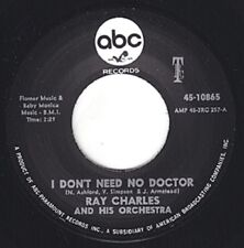 """RAY CHARLES I Don't Need No Doctor ABC 7"""" Re. 45 Classic 1966 Storming R&B HEAR"""