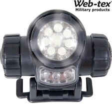 WEB-TEX LED TACTICAL HEAD TORCH LAMP 3 FUNCTION LIGHT RED WHITE ARMY CADET