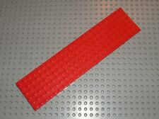 Plaque LEGO red plate 6 x 24 ref 3026 / Set 6395 1548 377 340 730 383 218 ....