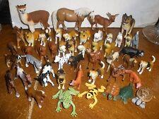 Lot of 47 Safari Ltd plastic animals dogs, cats, turtles, horses, llama, fox, de