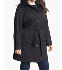 Michael Kors Winter fall Spring Black Detachable hood Liner trench coat plus1X2X