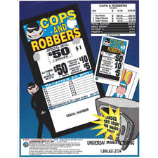 """Cops & Robbers"" 1 Window Pull Tab 150 Tickets Payout $105"