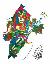 Gene Simmons, Kiss, Bass Guitar Player, Hard Rock, The Demon 8.5x11 PRINT w/COA4