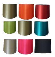 "10"",12"" Empire Drum Silk Fabric Light Lampshade Table Lamp Ceiling Pendant Shade"