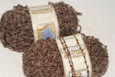 2 PARTIAL SKEINS BERNAT SOFT BOUCLE YARN - MISTY SHADES - 5.8 OZ TOTAL