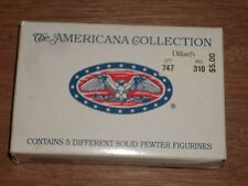 The Liberty Falls Americana Collection Set of 5 Solid Pewter Figurines Ah48 1994