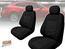MAZDA 3 BM SEDAN NEO Black SEAT COVERS F+R FEB/2014 to 2018 AIRBAG EXPRESS