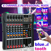 6 Channel Pro Live Studio Audio Mixer USB Mixing Console bluetooth For Recording