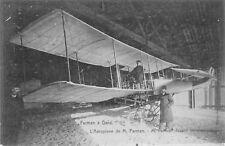 Selten@Foto-AK ca 1909@Henri Farman vor seinem Flugzeug/Doppeldecker/Biplan@Gent