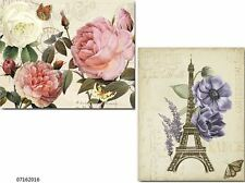 XL VinTaGe FrencH FLoRaL PosTcaRdS SHaBbY WaTerSLiDe DeCALs~FuRNiTuRe SiZe~