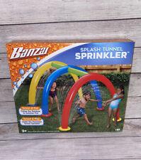 BANZAI Splash Tunnel Sprinkler Water Slide Pool