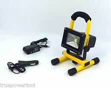 10 WATT COB LED FLOOD WORK LIGHT, ALL WEATHER PROOF, LI-ION RECHARGEABLE BATTERY