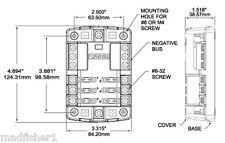 Blue Sea 5025 Blade Fuse Block With Cover Negative Bus Marine 4x4 4WD Caravan