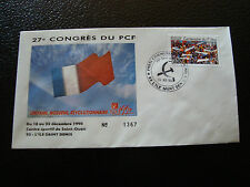 FRANCE - enveloppe 21/12/1990 27e congres du PCF (cy7) french (D)