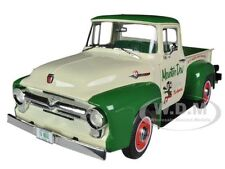 "1956 FORD F-100 PICKUP TRUCK ""MOUNTAIN DEW"" 1/18 BY AUTOWORLD AW211"