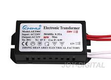 Electronic Transformer for Halogen Led Light Lamp AC 12V 80W Power Supply Driver