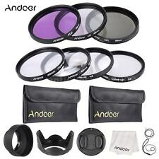 Andoer 49mm UV+CPL+FLD+Close-Up 7*Pack Filter Kit + Camera Accessories Set M2N0