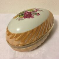 VINTAGE NORLEANS JAPAN COVERED EGG DISH Trinket Box Candy Nut Bowl Porcelain
