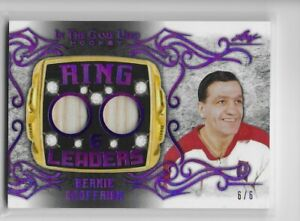 20-21 Leaf In the Game Used Ring Leaders DUAL stick purple Bernie Geoffrion 6/6