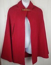 Vtg Red Cape Cloak Womens Chain Gorgeous