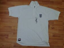 CLASSIC ENGLAND POLO FOOTBALL SHIRT SIGNED BY ENGLAND FOOTBALLER UNKNOWN
