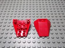 Lego 2 Keile Schrägstein 4x4 rot 3 fach negativ  4855 Set 6049 6597 6835 5521