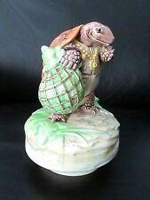 Beatrix Potter Schmid Music Box Mr Alderman Ptolemy Turtle Tale of Jeremy Fisher
