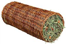 60777 Trixie Wicker Tunnel With Hay - Pet Rabbit, Guinea Pig Toy & Treat LARGE