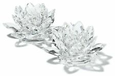 Godinger Lotus Candlesticks, Clear Crystal