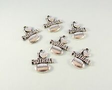 I Love Football charms 6 pcs silver tone sports charms - shipping discount