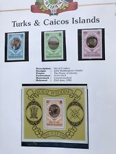 1981 Royal Wedding Turks And Caicos Islands Stamps MNH