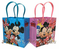 12 pc Minnie Mickey Mouse Party Favor Goodie Bags Gift Birthday Treat Candy Sack
