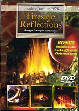 FIRESIDE REFLECTIONS CHRISTMAS HOLIDAY FIREPLACE DVD w/BONUS FAVORITE SONGS! OOP